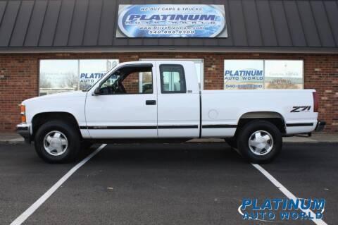 1996 Chevrolet C/K 1500 Series for sale at Platinum Auto World in Fredericksburg VA