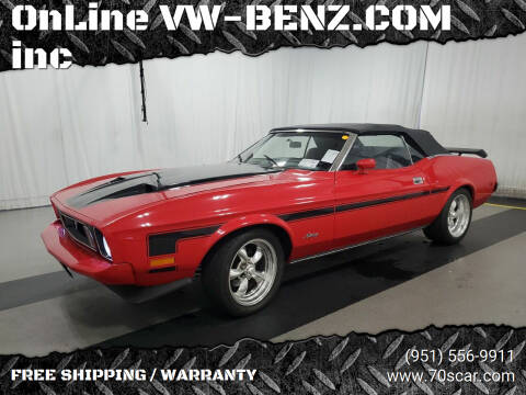 1973 Ford Mustang Mach-E for sale at OnLine VW-BENZ.COM Auto Group in Riverside CA