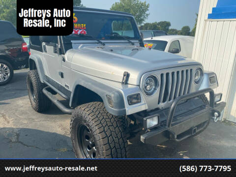 2006 Jeep Wrangler for sale at Jeffreys Auto Resale, Inc in Clinton Township MI