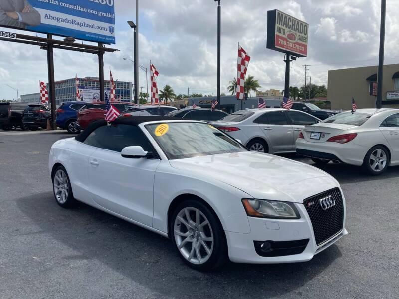 2011 Audi A5 for sale at MACHADO AUTO SALES in Miami FL
