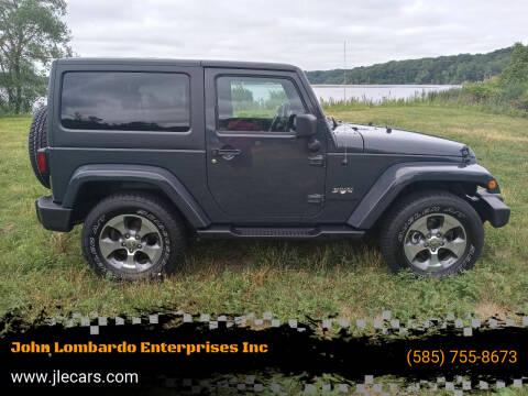 2016 Jeep Wrangler for sale at John Lombardo Enterprises Inc in Rochester NY