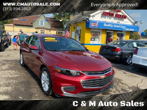 2018 Chevrolet Malibu for sale at C & M Auto Sales in Detroit MI