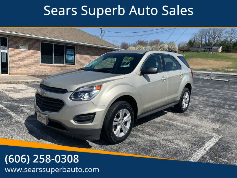 2016 Chevrolet Equinox for sale at Sears Superb Auto Sales in Corbin KY