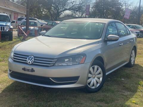 2012 Volkswagen Passat for sale at Texas Select Autos LLC in Mckinney TX