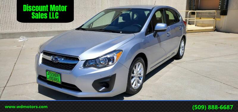 2013 Subaru Impreza for sale at Discount Motor Sales LLC in Wenatchee WA