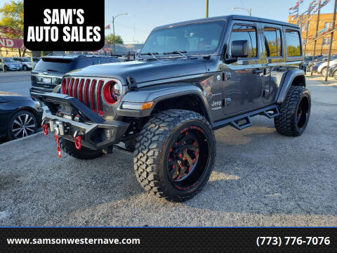 2018 Jeep Wrangler Unlimited for sale at SAM'S AUTO SALES in Chicago IL