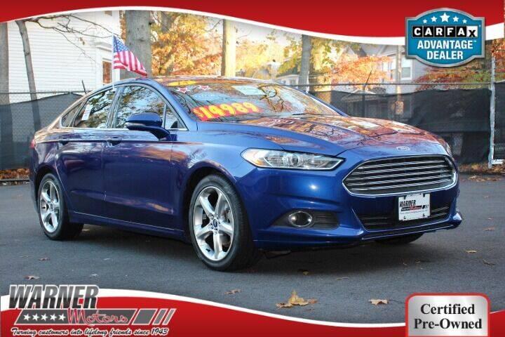 2015 Ford Fusion for sale at Warner Motors in East Orange NJ
