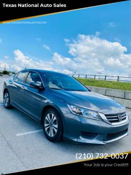 2014 Honda Accord for sale at Texas National Auto Sales in San Antonio TX