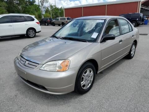 2001 Honda Civic for sale at L G AUTO SALES in Boynton Beach FL