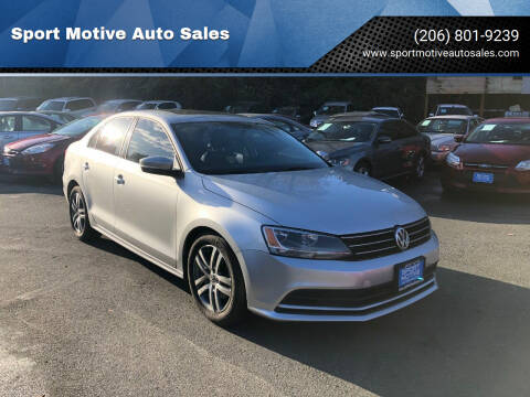 2015 Volkswagen Jetta for sale at Sport Motive Auto Sales in Seattle WA