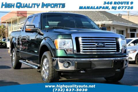 2012 Ford F-150 for sale at High Quality Imports in Manalapan NJ