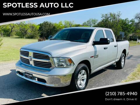 2015 RAM Ram Pickup 1500 for sale at SPOTLESS AUTO LLC in San Antonio TX