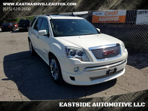 2012 GMC Acadia for sale at EASTSIDE AUTOMOTIVE LLC in Nashville TN