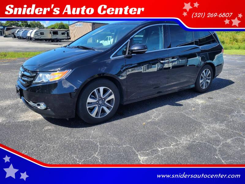 2016 Honda Odyssey for sale at Snider's Auto Center in Titusville FL
