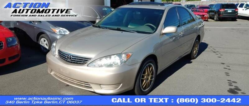2005 Toyota Camry for sale at Action Automotive Inc in Berlin CT