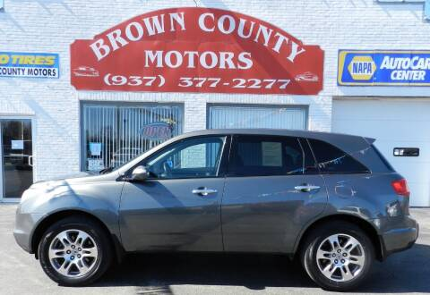 2008 Acura MDX for sale at Brown County Motors in Russellville OH