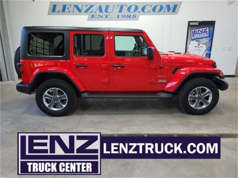 2021 Jeep Wrangler Unlimited for sale at LENZ TRUCK CENTER in Fond Du Lac WI