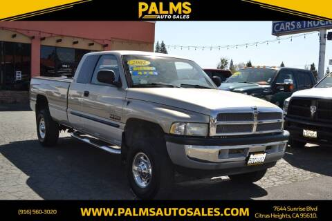 2002 Dodge Ram Pickup 2500 for sale at Palms Auto Sales in Citrus Heights CA