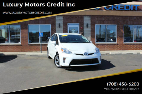 2013 Toyota Prius for sale at Luxury Motors Credit Inc in Bridgeview IL