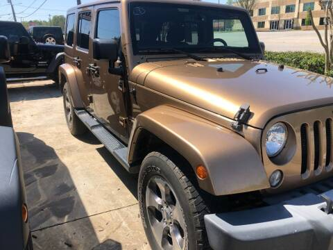 2015 Jeep Wrangler Unlimited for sale at A & K Auto Sales in Mauldin SC