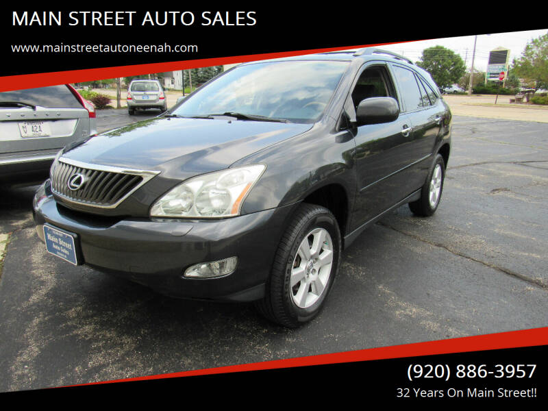 2009 Lexus RX 350 for sale at MAIN STREET AUTO SALES in Neenah WI