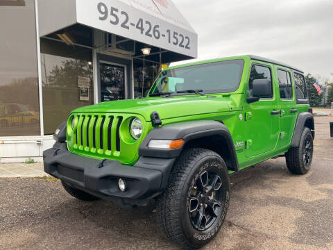 2019 Jeep Wrangler Unlimited for sale at Mainstreet Motor Company in Hopkins MN