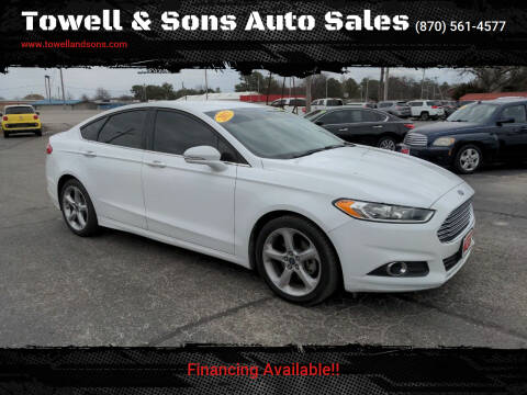 2015 Ford Fusion for sale at Towell & Sons Auto Sales in Manila AR