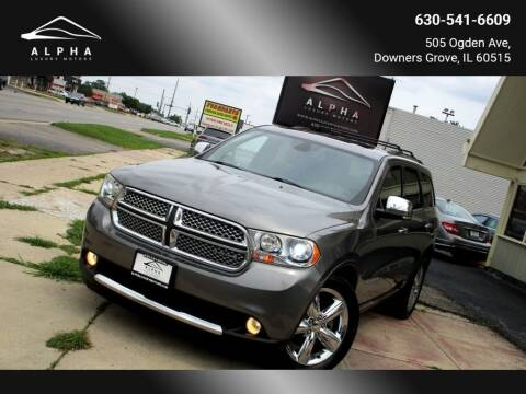 2012 Dodge Durango for sale at Alpha Luxury Motors in Downers Grove IL
