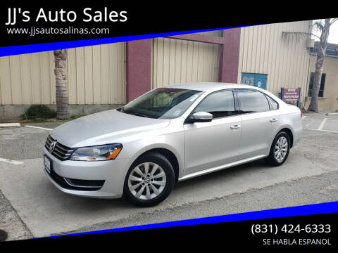 2013 Volkswagen Passat for sale at JJ's Auto Sales in Salinas CA
