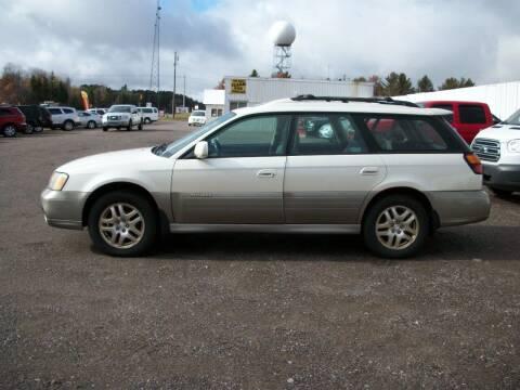 2002 Subaru Outback for sale at Superior Auto of Negaunee in Negaunee MI