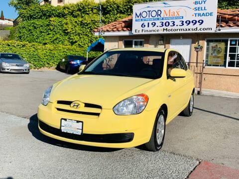 2010 Hyundai Accent for sale at MotorMax in Lemon Grove CA