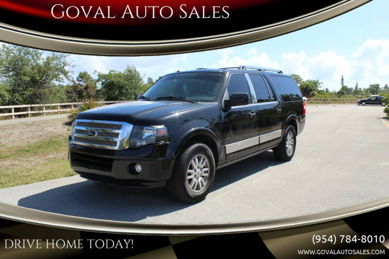 2014 Ford Expedition EL for sale at Goval Auto Sales in Pompano Beach FL