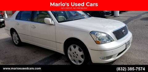 2003 Lexus LS 430 for sale at Mario's Used Cars in Houston TX