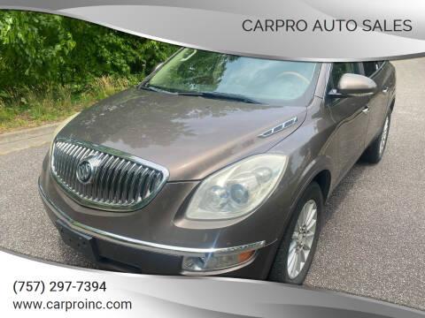 2010 Buick Enclave for sale at Carpro Auto Sales in Chesapeake VA