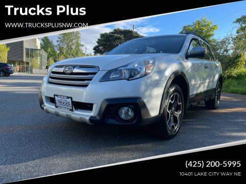 2013 Subaru Outback for sale at Trucks Plus in Seattle WA