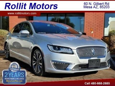 2017 Lincoln MKZ for sale at Rollit Motors in Mesa AZ