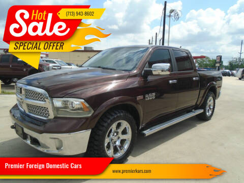2015 RAM Ram Pickup 1500 for sale at Premier Foreign Domestic Cars in Houston TX