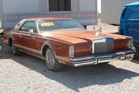 1978 Lincoln Continental for sale at Collector Car Channel - Desert Gardens Mobile Homes in Quartzsite AZ