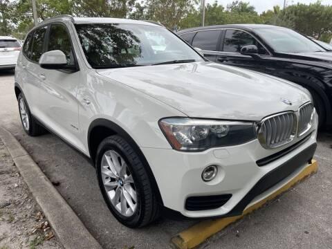 2017 BMW X3 for sale at DORAL HYUNDAI in Doral FL