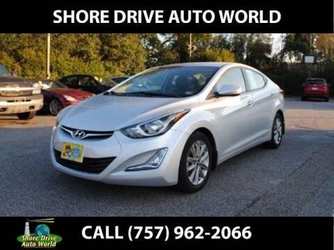 2016 Hyundai Elantra for sale at Shore Drive Auto World in Virginia Beach VA