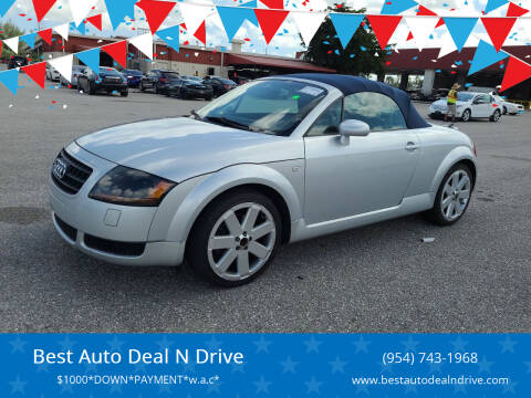 2004 Audi TT for sale at Best Auto Deal N Drive in Hollywood FL
