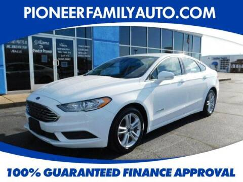 2018 Ford Fusion Hybrid for sale at Pioneer Family Preowned Autos in Williamstown WV
