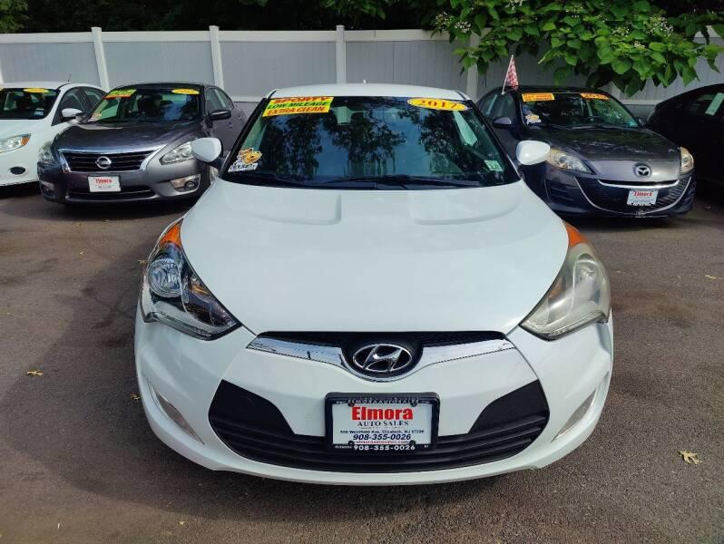 2017 Hyundai Veloster for sale at Elmora Auto Sales in Elizabeth NJ