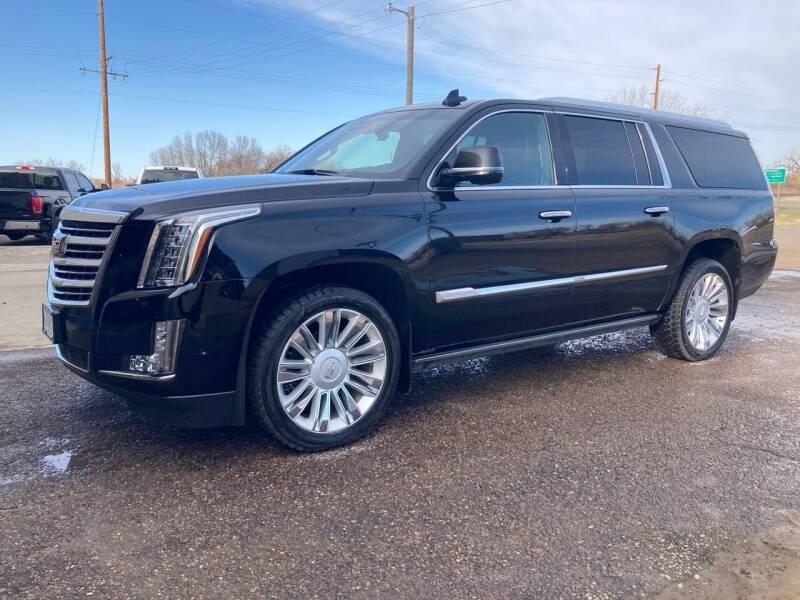 2018 Cadillac Escalade ESV for sale at American Garage in Chinook MT