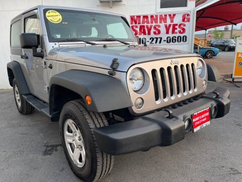 2014 Jeep Wrangler for sale at Manny G Motors in San Antonio TX