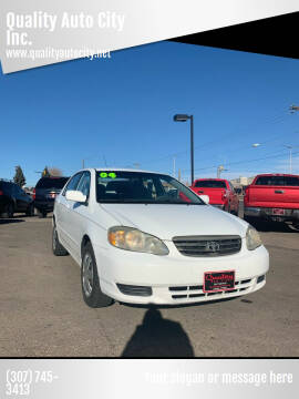 2004 Toyota Corolla for sale at Quality Auto City Inc. in Laramie WY