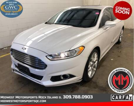 2013 Ford Fusion for sale at MIDWEST MOTORSPORTS in Rock Island IL