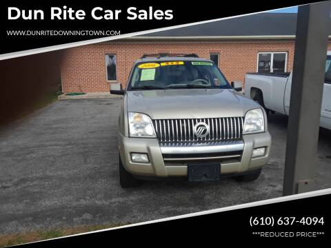 2006 Mercury Mountaineer for sale at Dun Rite Car Sales in Downingtown PA