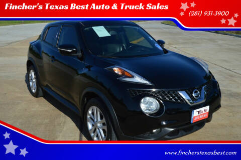 2015 Nissan JUKE for sale at Fincher's Texas Best Auto & Truck Sales in Tomball TX