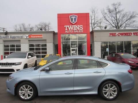2015 Chrysler 200 for sale at Twins Auto Sales Inc - Detroit in Detroit MI